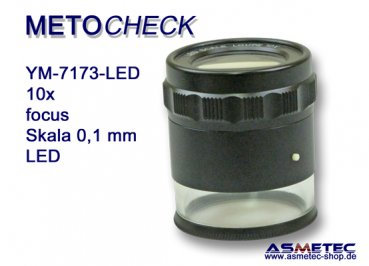 METOCHECK YM 7173-LED / Messlupe 10fach mit LED