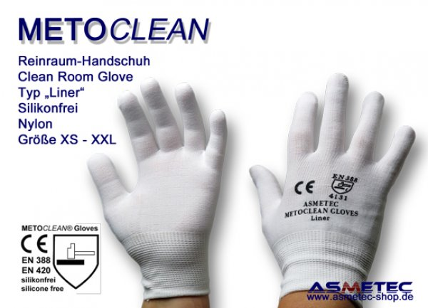 Metoclean Liner glove, silicone free - www.asmetec-shop.de