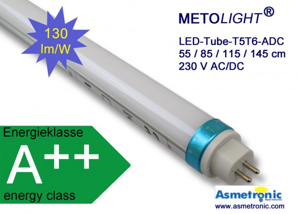 Metolight LED-Röhre T5, 1448 mm, 25 Watt - www.asmetronic.com