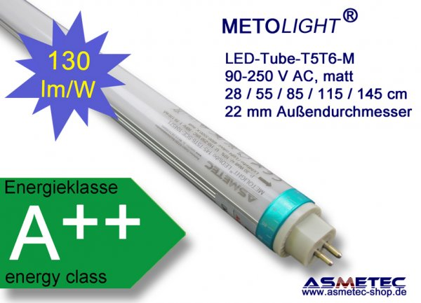 Metolight LED-Röhre T5, 1448 mm, 25 Watt - www.asmetec-shop.de